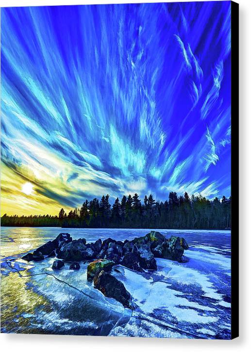 Nature Canvas Print featuring the photograph Icebound 3 by Bill Caldwell -    ABeautifulSky Photography