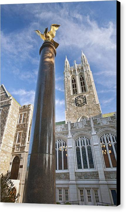 Gasson Hall Canvas Print featuring the photograph Boston College Gasson Hall by Replay Photos
