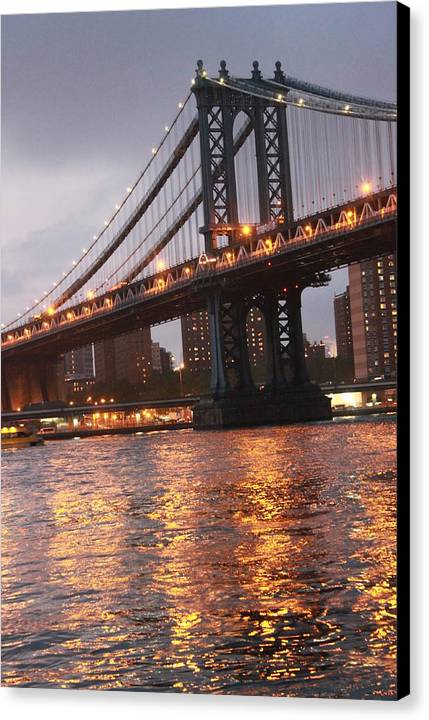 Bridge Canvas Print featuring the photograph Manhattan Bridge by Nina Mirhabibi