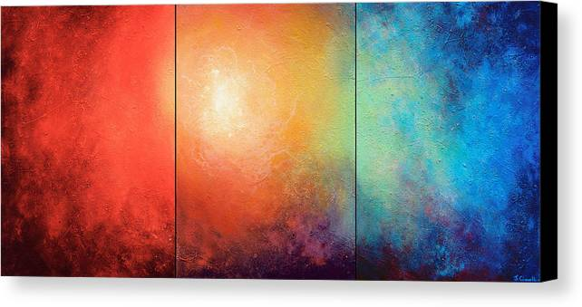 Abstract Canvas Print featuring the painting One Verse by Jaison Cianelli