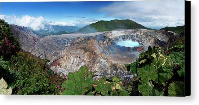Horizontal Canvas Print featuring the photograph Poas Volcano by Kryssia Campos