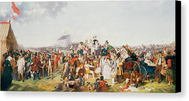 Derby Canvas Print featuring the painting Derby Day by William Powell Frith