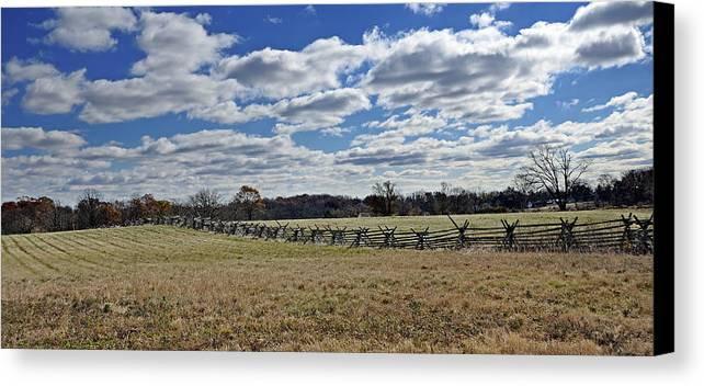 Gettysburg Canvas Print featuring the photograph Gettysburg Battlefield - Pennsylvania by Brendan Reals