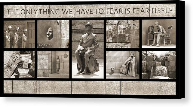 Landmarks Canvas Print featuring the photograph Wip - Fdr Memorial - Washington Dc by Mike McGlothlen