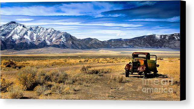 Old Truck Canvas Print featuring the photograph The Old One by Robert Bales