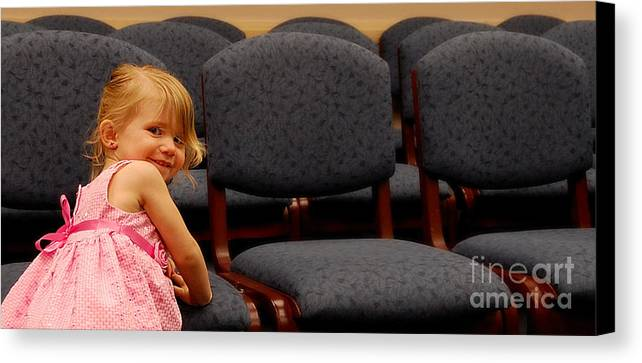 Girls Canvas Print featuring the photograph A Chair For Me by Steven Milner