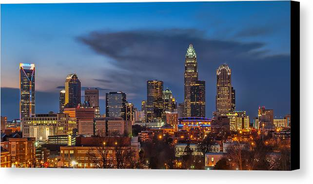 Charlotte Canvas Print featuring the photograph Charlotte North Carolina by Brian Young