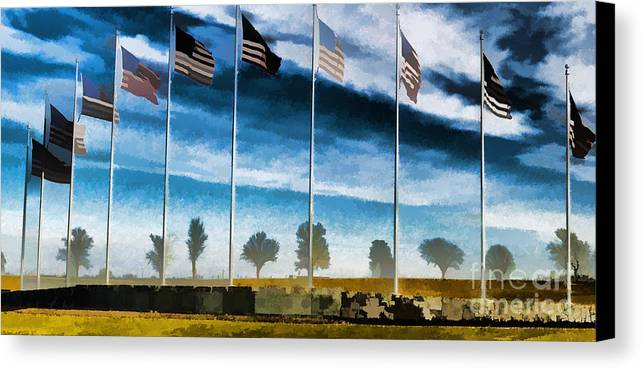 Old Glory-the American Flag Canvas Print featuring the photograph Old Glory-the American Flag by Luther  Fine Art