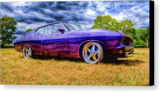 Ford Falcon Coupe Canvas Print featuring the photograph Purple Falcon Coupe by Phil 'motography' Clark