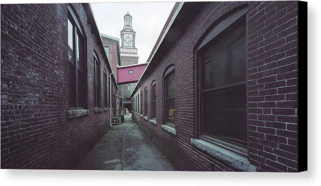 Merrimack River Canvas Print featuring the photograph Maynard Mills by Jan Faul