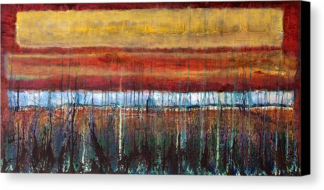 Tophet Canvas Print featuring the painting Tophet by Jonathan E Raddatz