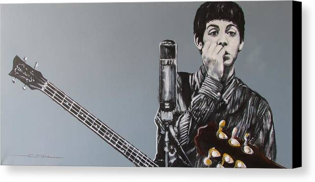 Paul Mccartney Canvas Print featuring the painting D-note by Eric Dee