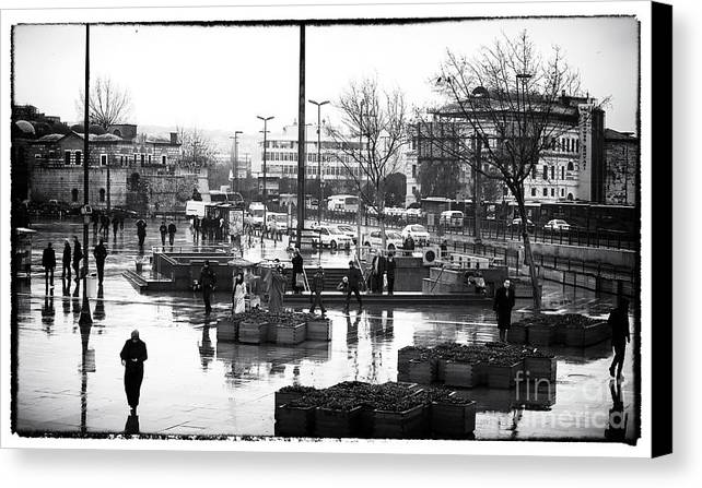 Work Day In Istanbul Canvas Print featuring the photograph Work Day In Istanbul by John Rizzuto