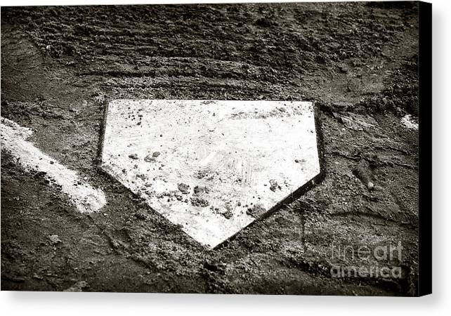 Home Plate Canvas Print featuring the photograph Home Plate by John Rizzuto