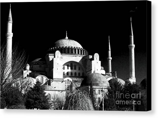 Sultanhmet Canvas Print featuring the photograph Aya Sofya by John Rizzuto
