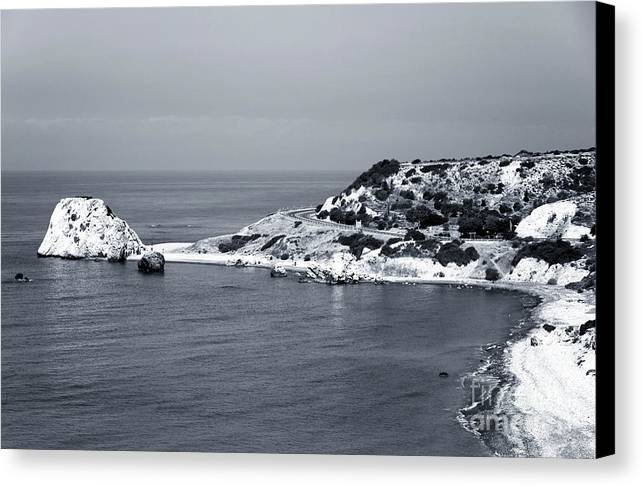 Aphrodite's Coast Canvas Print featuring the photograph Aphrodite's Coast by John Rizzuto