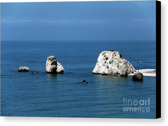 Rocks Canvas Print featuring the photograph Aphrodite's Rocks by John Rizzuto