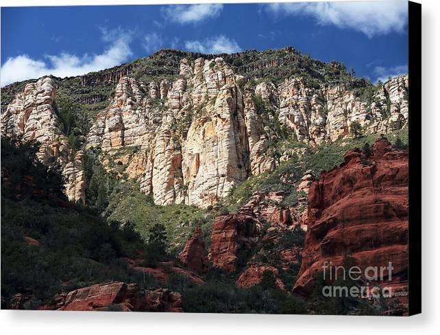 Oak Creek Canyon Canvas Print featuring the photograph Oak Creek Canyon by John Rizzuto