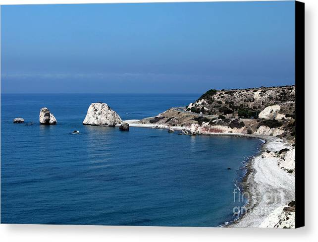 To Aphrodite's Rocks Canvas Print featuring the photograph To Aphrodite's Rocks by John Rizzuto