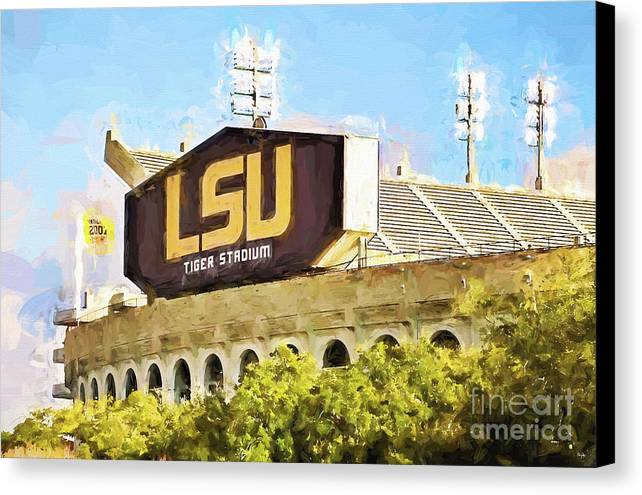 Lsu Canvas Print featuring the photograph Tiger Stadium by Scott Pellegrin
