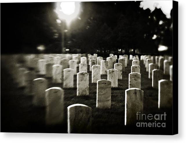 Cemetery Canvas Print featuring the photograph Resting Place by Scott Pellegrin