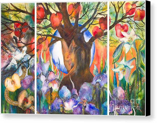 Tree Of Life Canvas Print featuring the painting The Tree Of Life by Kate Bedell