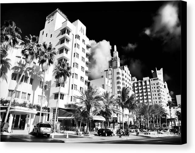 Collins Avenue Canvas Print featuring the photograph Collins Avenue by John Rizzuto
