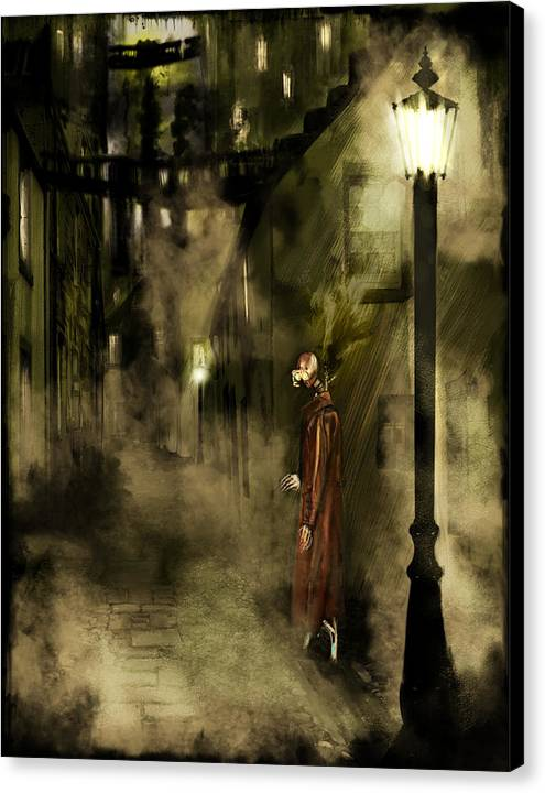 Science Fiction Canvas Print featuring the painting Inspector Hook by Mandem