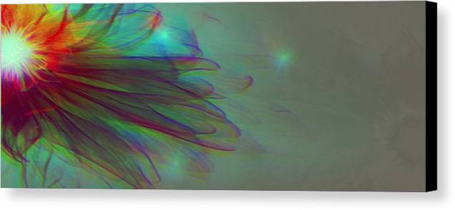 Avantgarde Canvas Print featuring the photograph A Flower For You by Li  van Saathoff