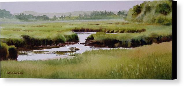 Creek Canvas Print featuring the painting Yarmouthport Marsh by Karol Wyckoff