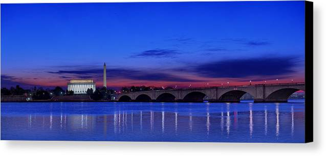 Abe Canvas Print featuring the photograph Morning Along The Potomac by Metro DC Photography