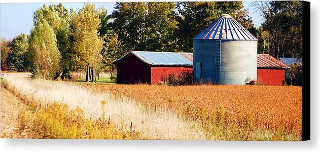 Grain Bin Canvas Print featuring the photograph Fall Bin by Jame Hayes
