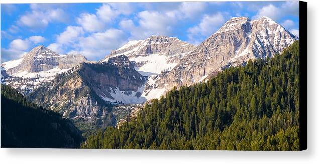 Scenery Canvas Print featuring the photograph Mt. Timpanogos In The Wasatch Mountains Of Utah by Utah Images