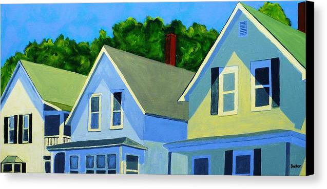 Cityscape Canvas Print featuring the painting High Noon by Laurie Breton