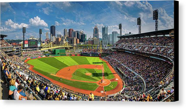 Steelers Canvas Print featuring the photograph Pnc Park  by Emmanuel Panagiotakis