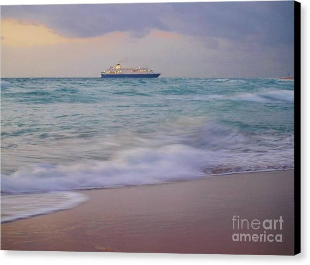 Boat Canvas Print featuring the photograph Glorious Emerald Sea by E Luiza Picciano