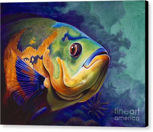 Fish Canvas Print featuring the painting Enchanted Reef by Scott Spillman
