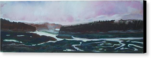Maine Canvas Print featuring the pastel Towards Edgecomb by Grace Keown