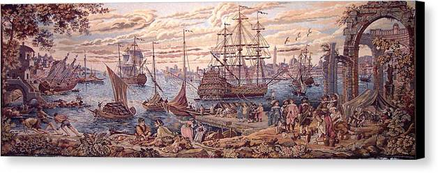 The Merchant Of Venice Canvas Print featuring the painting The Merchant Of Venice by Ricky Nathaniel