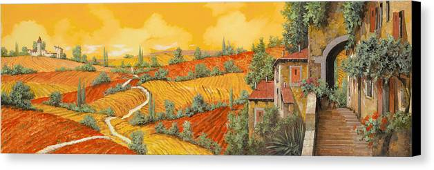 Tuscany Canvas Print featuring the painting Bassa Toscana by Guido Borelli