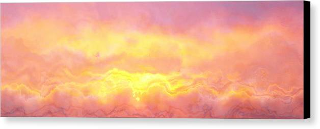Abstract Art Canvas Print featuring the digital art Above The Clouds - Abstract Art by Jaison Cianelli