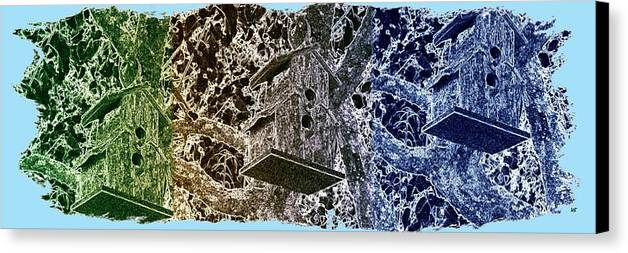 Abstract Fusion Canvas Print featuring the digital art Abstract Fusion 160 by Will Borden