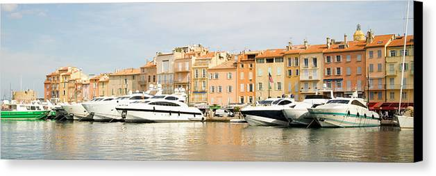 Horizontal Canvas Print featuring the photograph Harbour, St. Tropez, Cote D'azur, France by John Harper
