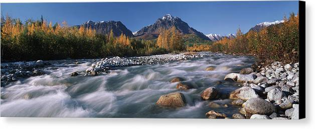 Hall Canvas Print featuring the photograph Scenic Of Granite Creek In Autumn Sc by Calvin Hall