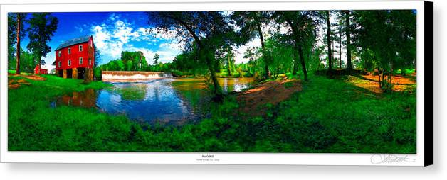 Historic Canvas Print featuring the photograph Starrs Mill 360 Panorama by Lar Matre