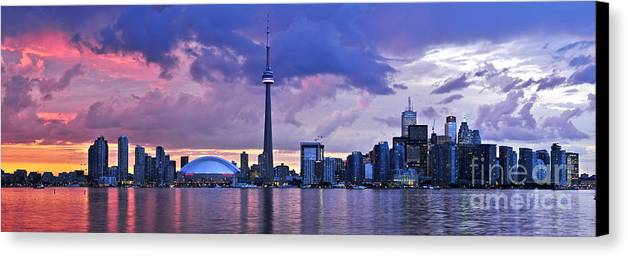 Toronto Canvas Print featuring the photograph Toronto Skyline by Elena Elisseeva