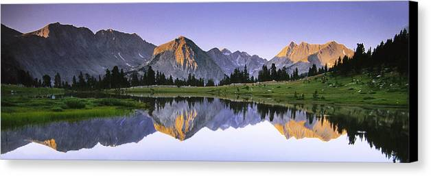 Horizontal Canvas Print featuring the photograph Pioneer Basin Morning Panorama by Buck Forester