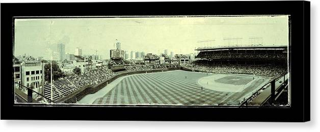 Chicago Canvas Print featuring the photograph The Friendly Confines by Jame Hayes