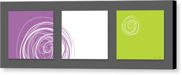 Abstract Canvas Print featuring the digital art Purple Twirl by Nomi Elboim