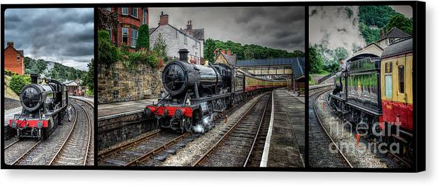 1938 Canvas Print featuring the photograph Great Western Locomotive by Adrian Evans